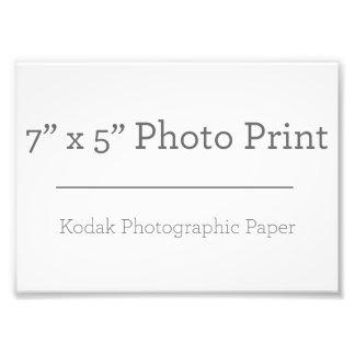 Impresión de la foto del personalizado 7 x 5