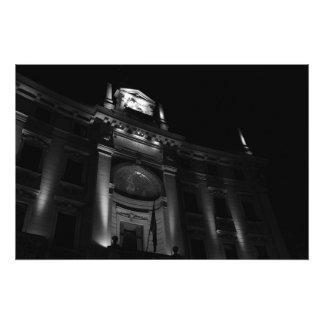 Impresión de la foto - edificio de la noche en