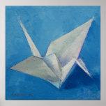 Impresión de la grúa de Origami
