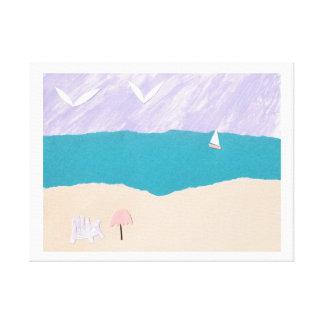 Impresión de la lona con diseño de la playa