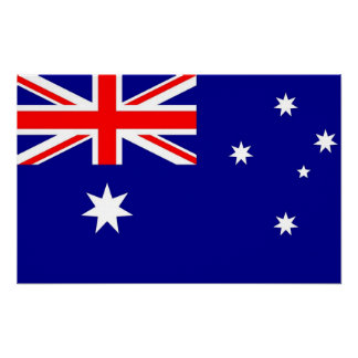 Impresión de la lona con la bandera de Australia