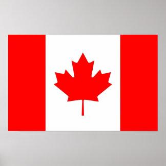 Impresión de la lona con la bandera de Canadá