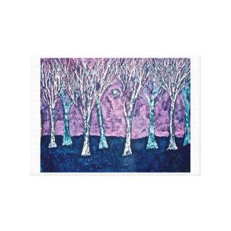 Impresión de la lona de árboles en invierno