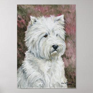 """Impresión de la lona de arte del perro """"de Terrier"""