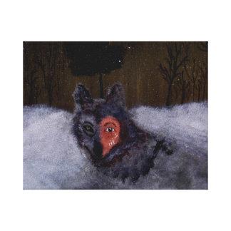 Impresión de la lona de Bravewolf Lona Envuelta Para Galerías