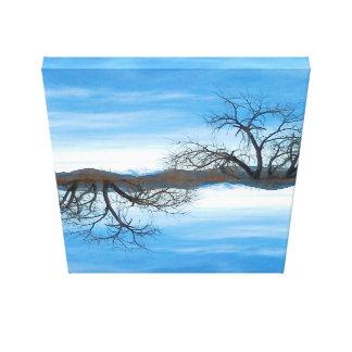 Impresión de la lona de El Abuelo Del Cielo Blue Impresión En Tela