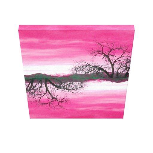 Impresión de la lona de El Abuelo Del Cielo Pink Impresion En Lona