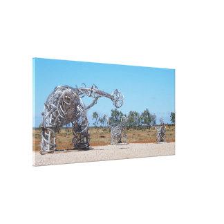 Impresión de la lona de Eromanga Titanosaurs