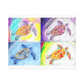 Impresión de la lona de la acuarela de la tortuga