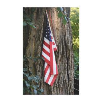 Impresión de la lona de la bandera americana