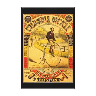 Impresión de la lona de la bicicleta 36 x 24 de impresión en lienzo estirada