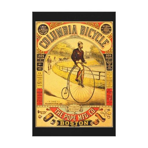Impresión de la lona de la bicicleta 36 x 24 de impresiones de lienzo