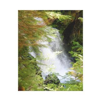 Impresión de la lona de la cascada del Monte