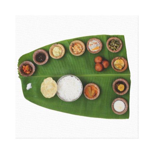 Impresión de la lona de la hoja del sushi impresiones de lienzo