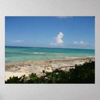 Impresión de la lona de la isleta de Bahamas Poster