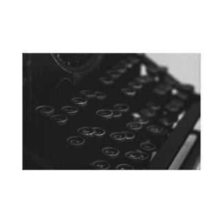 Impresión de la lona de la máquina de escribir -