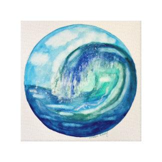 Impresión de la lona de la ola oceánica