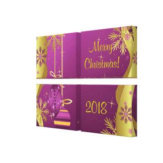 Impresión de la lona de las Felices Navidad Impresion De Lienzo