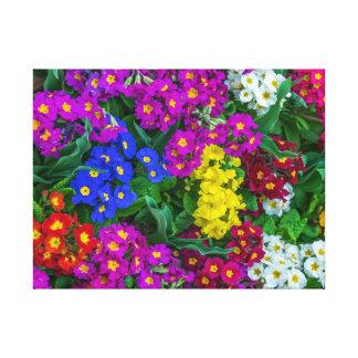 Impresión de la lona de las flores de la primavera