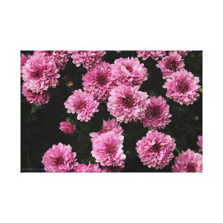 Impresión de la lona de las flores del rosa