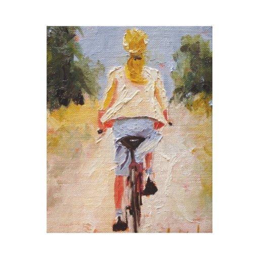 Impresión de la lona de Pedaler de la bicicleta Lona Estirada Galerías