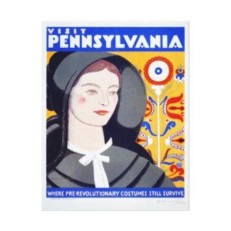 Impresión de la lona de Pennsylvania de la visita