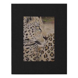 impresión de la lona de pintura del leopardo