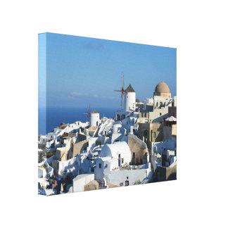 Impresión de la lona de Santorini de los molinoes