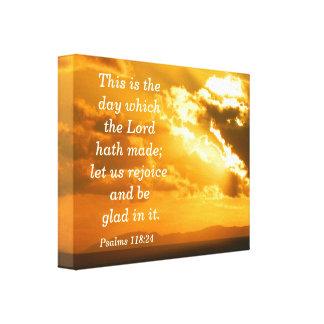 Impresión de la lona del 118:24 de los salmos