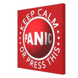 Impresión de la lona del botón de pánico lona envuelta para galerías