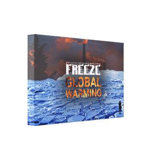 Impresión de la lona del calentamiento del planeta