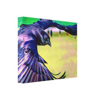 Impresión de la lona del cuervo de la fantasía en