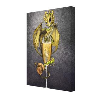 Impresión de la lona del dragón 8x10 de Champán