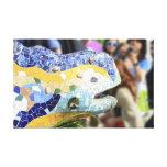 Impresión de la lona del dragón de Guell del parqu Impresión En Lona