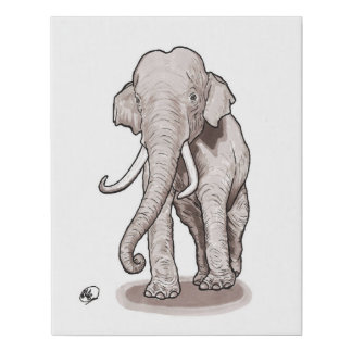 """Impresión de la lona del elefante de la """"libertad"""""""