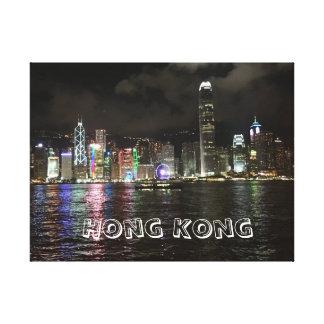Impresión de la lona del horizonte de Hong Kong