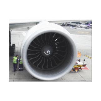 Impresión de la lona del motor a reacción