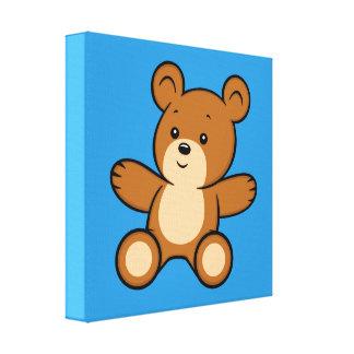 Impresión de la lona del oso de peluche del dibujo
