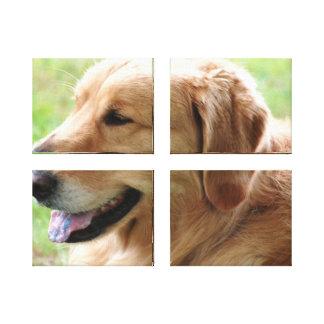 Impresión de la lona del perrito del golden retrie impresion en lona