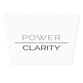 Impresión de la lona del poder y de la claridad