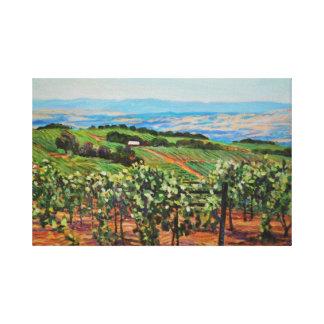 Impresión de la lona del viñedo