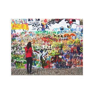Impresión de la lona - pared de John Lennon, Praga