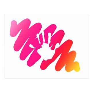 impresión de la mano postal