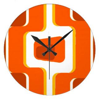 Impresión de la MOD de los años 50 del vintage Reloj Redondo Grande