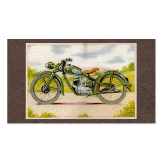 Impresión de la motocicleta del vintage tarjetas de visita