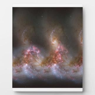 Impresión de la nebulosa de la galaxia placa expositora