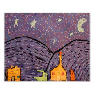 Impresión de la noche estrellada 8x10 foto