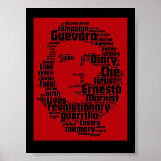 Impresión de la nube de la palabra de Che Guevara Impresiones