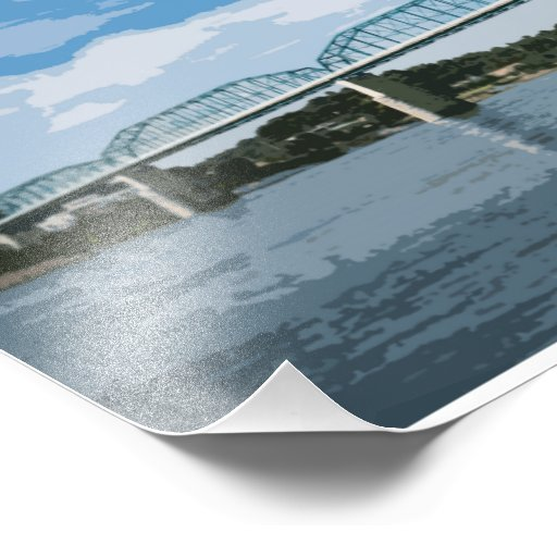 Impresión de la orilla del río de Chattanooga Fotos