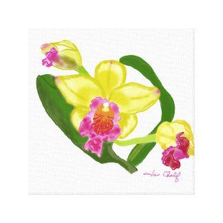 Impresión de la orquídea